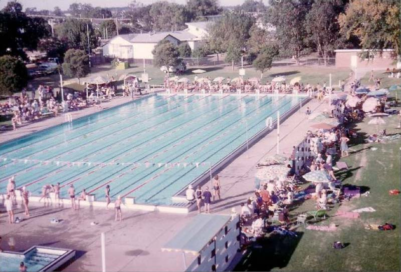 Swimming carnival Bairnsdale Olympic Pool circa 1970's