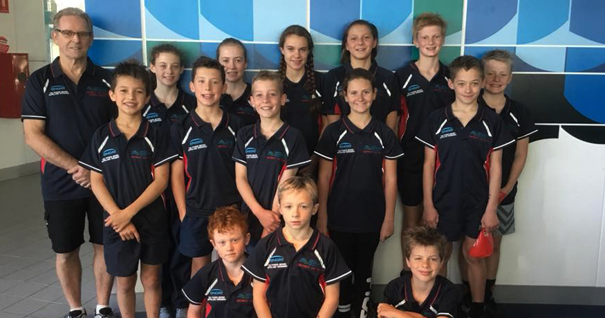 Waterdragons representing Gippsland at Melbourne Junior Dolphins Meet